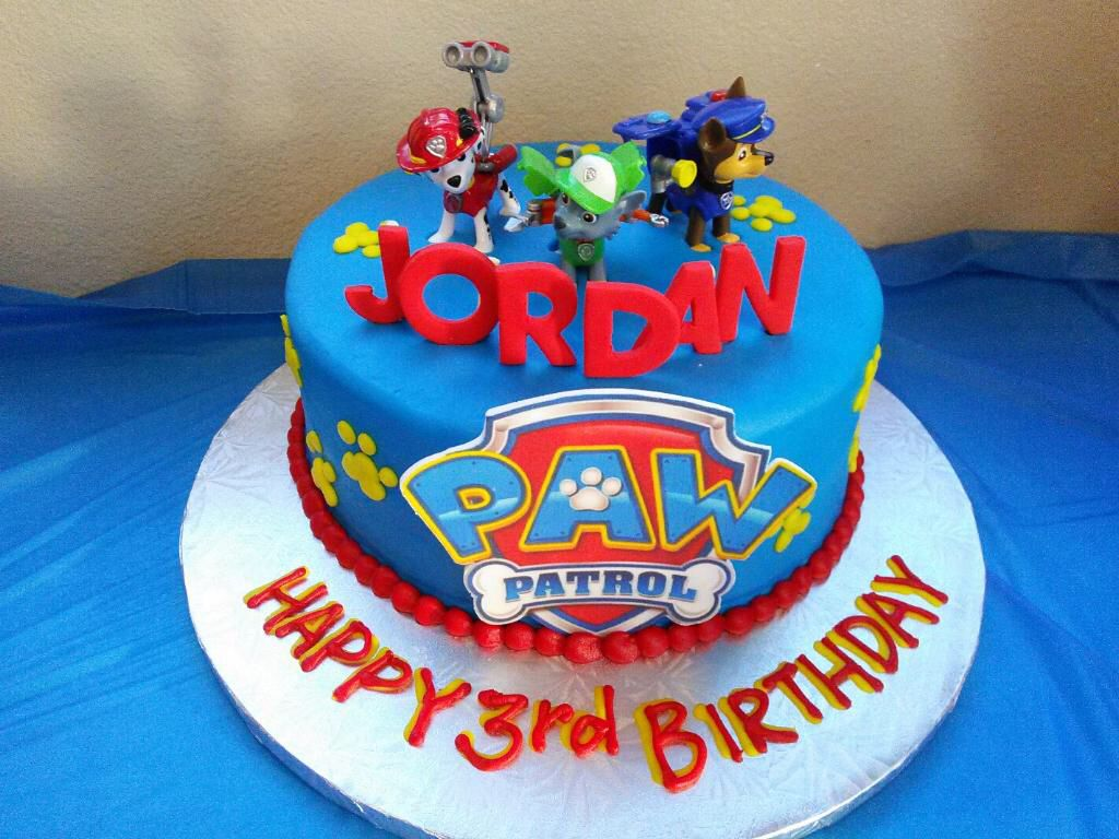 The Birthday Cake For Jordans Party I Ordered From Candy Haven - Paw patrol birthday cake