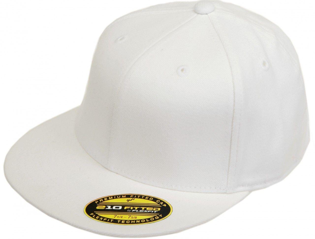 aa484664ee252 6210 Flexfit Premium Fitted Flatbill Baseball Blank Plain Hat Cap Flex Fit  210