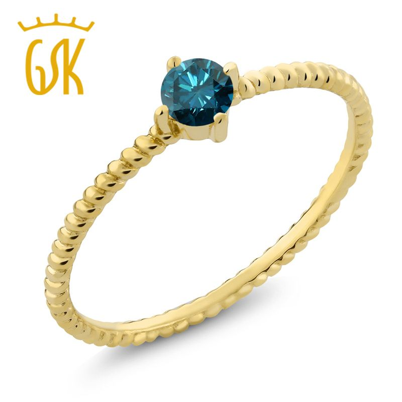 Midas Blue Diamond 10K Yellow Gold Engagement Solitaire Ring Price