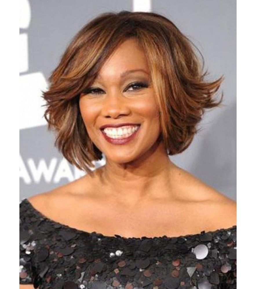 Sweet Layered Bob Hairstyle Human Hair Lace Front Wigs 10 Inches ...
