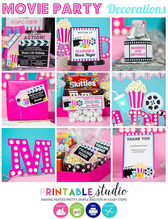 Movie Night Birthday Party Ideas Photo 1 Of 20 Backyard Birthday Parties Movie Themed Party Backyard Movie Party
