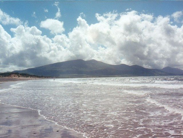 Brandon Bay, Dingle Peninsula.  Stay at the self-catering Kerry Cottages with the beach at their doorstep: http://www.irishcottageholidays.com/accommodation-detail/en/cottage-3/Kerry_Cottages