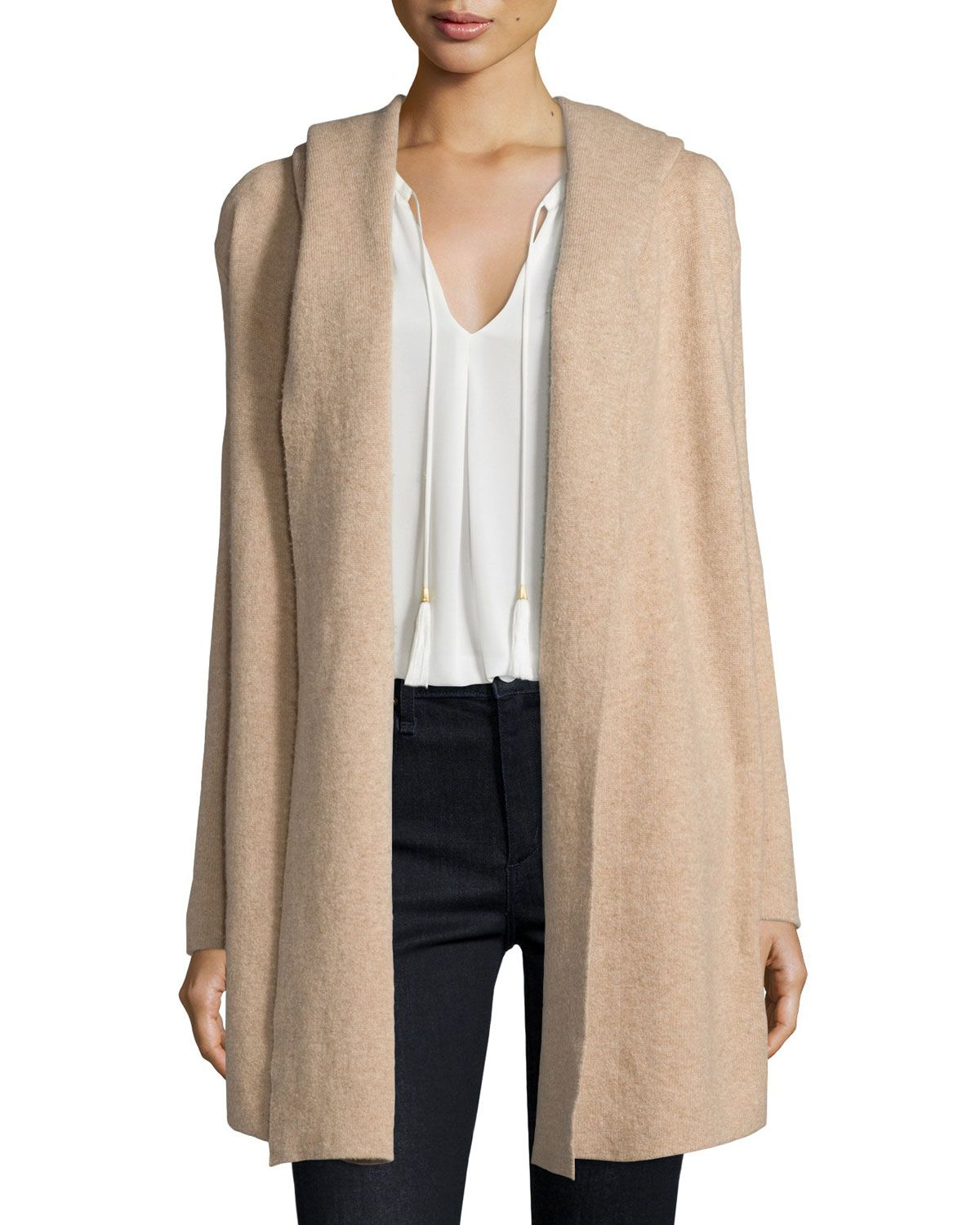 Gredan Long Hooded Sweater, Coffee/Cream | Products | Pinterest ...