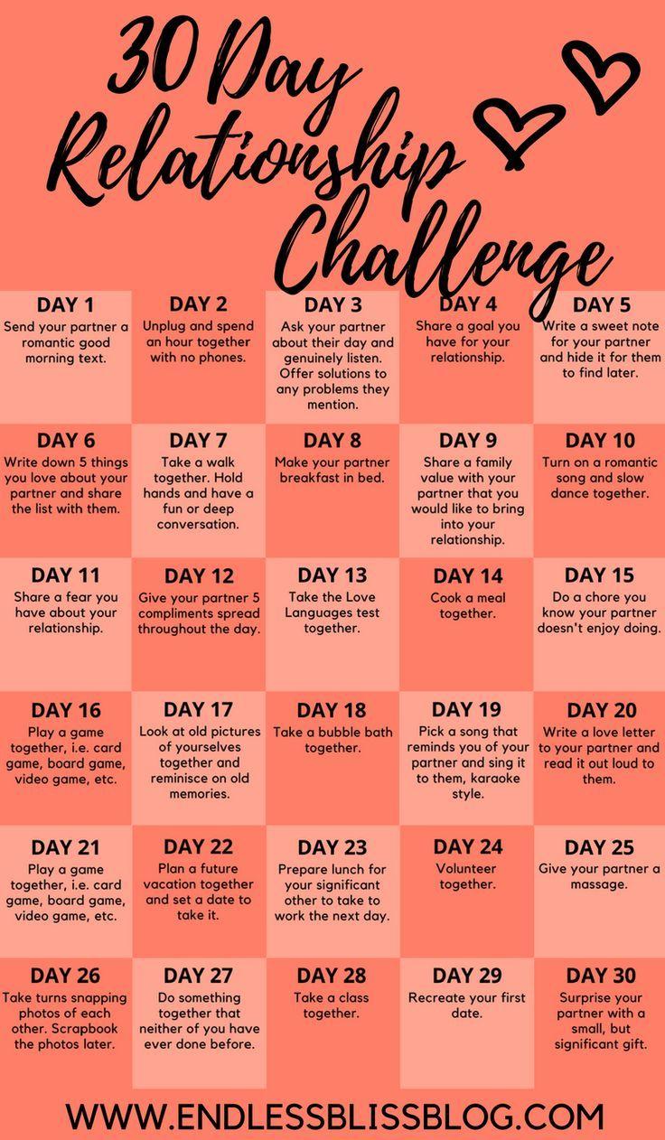 30 Day Relationship Challenge - #challenge #Day #relationship #gamedayfood