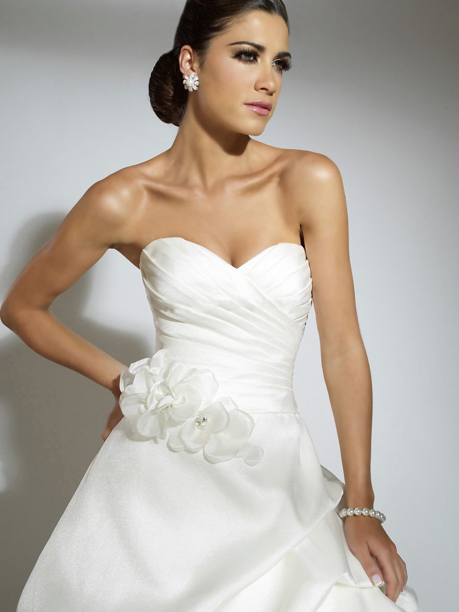 Sexy stain strapless wedding dress with belt weddings sexy stain strapless wedding dress with belt ombrellifo Choice Image