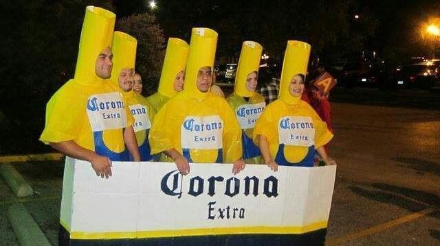 Corona Costumes Mexican Halloween Beer Costume Group Halloween Costumes