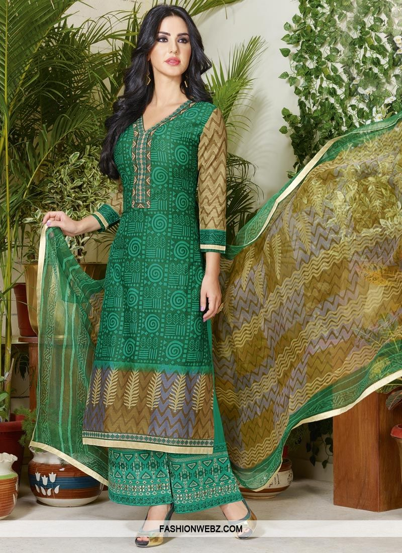 b6eedf060f Cotton Palazzo Style Pakistani Salwar Suit   Pakistani Salwar Kameez ...