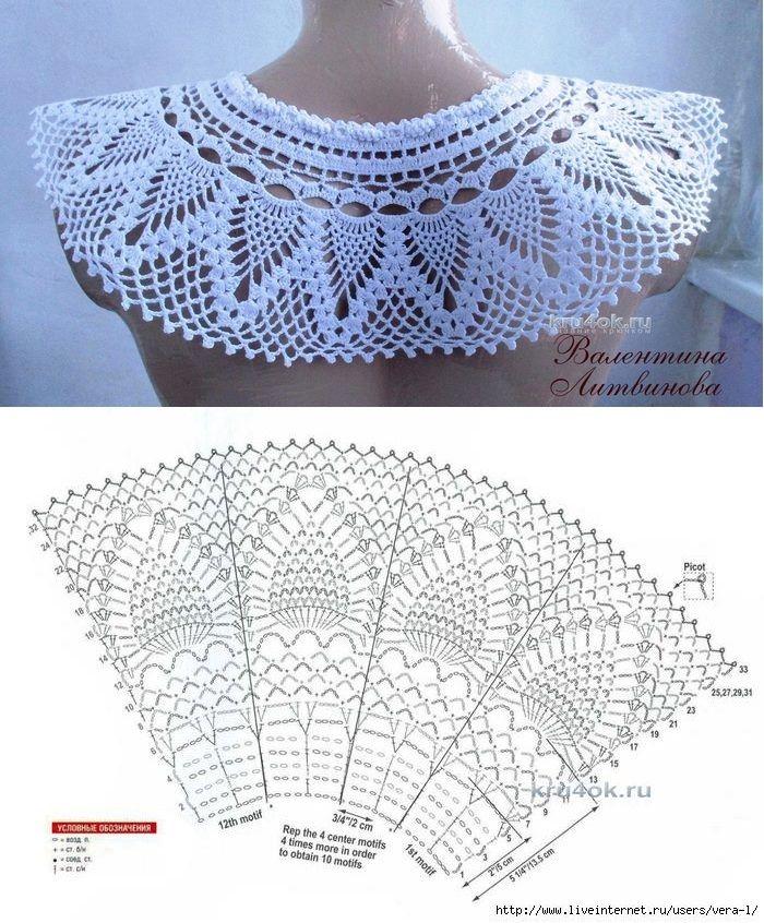 Pin von Britt Stagis auf Crochet - diagram pattern | Pinterest ...