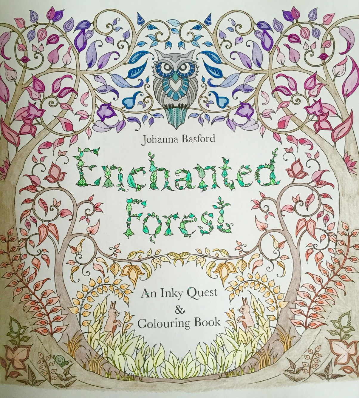 Johanna Basford Enchanted Forest Coloring Book Faber Castell Pencils