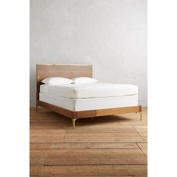 Anthropologie Prana Bed ($1,998) ❤ Liked On Polyvore Featuring Home,  Furniture, Beds