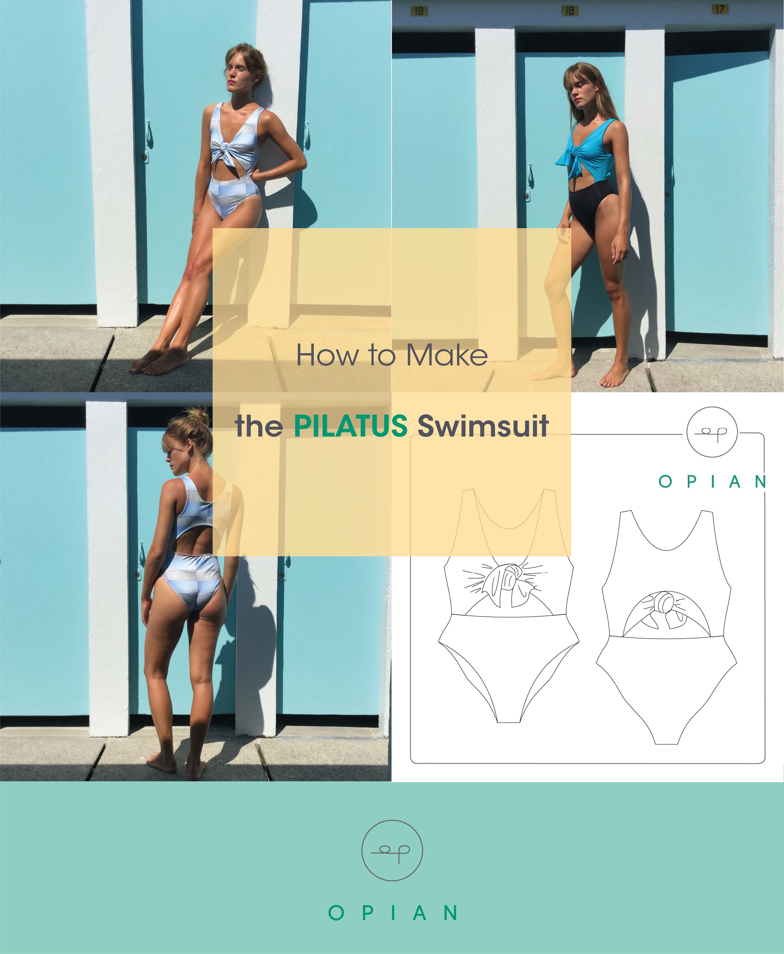 6ecce36b20 How to make the Pilatus swimsuit by Opian. Comment faire le maillot de bain  Pilatus par Opian.