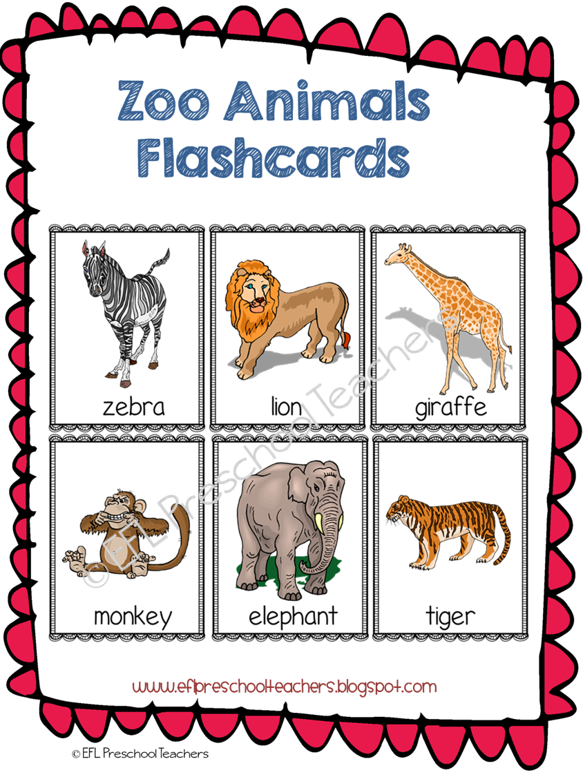 Esl Zoo Animals Flashcards Animal Flashcards Zoo Animal Theme Zoo Animals Preschool [ 1125 x 844 Pixel ]