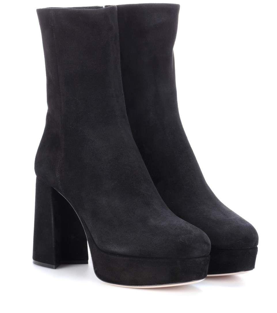 Miu Miu Suede plateau ankle boots lhdMU1pgWy