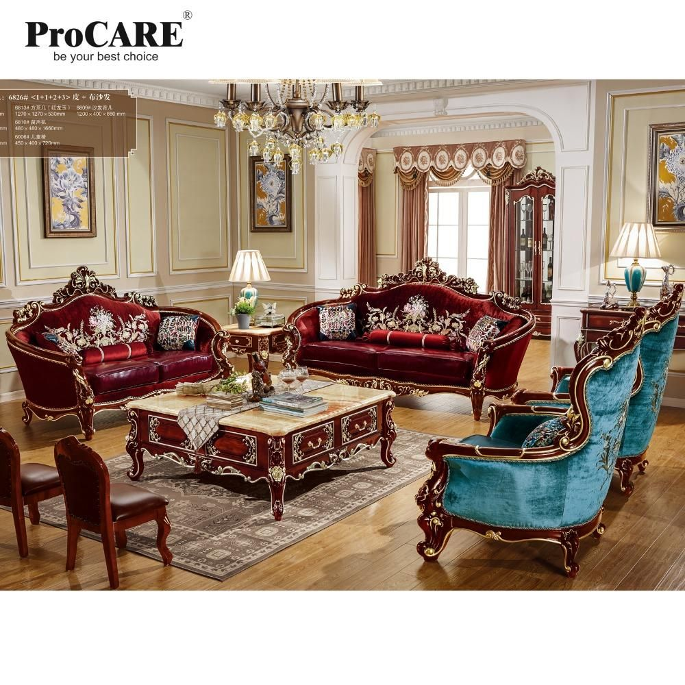 High Quality Luxury European Style Fabric With Leather Sofa Set 1 1 2 3 From Procare Luxury Sofa Living Room Living Room Furniture Styles European Home Decor