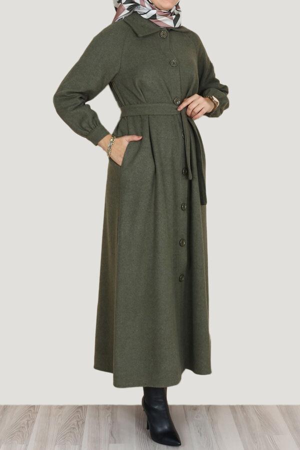 جلباب زيتي غامق جوخ تسوق أون لاين حجاب مودانيسا أزياء محجبات ملابس محجبات فساتين جلباب عباية ملابس فستان تو In 2021 Muslim Women Clothing Abaya Dress Clothes