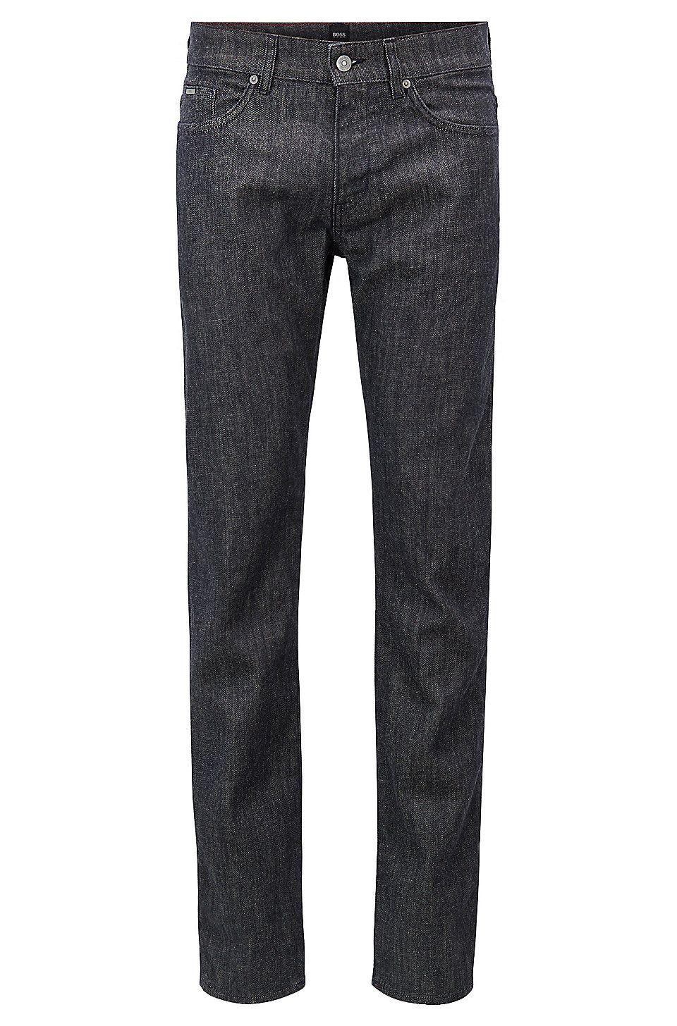 62307171043 HUGO BOSS Slim-fit jeans in Stay Dark Italian stretch denim - Dark Blue  Jeans from BOSS for Men in the official HUGO BOSS Online Store free shipping