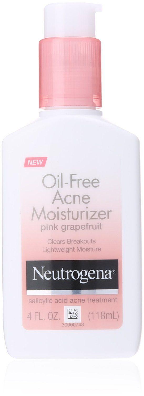 Neutrogena Oil Free Acne Moisturizer Pink Grapefruit Acne Moisturizer Best Drugstore Moisturizer Drugstore Moisturizer