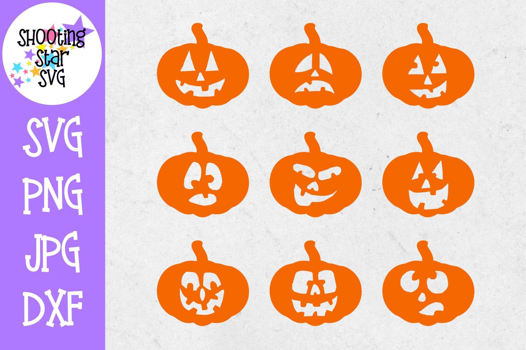 Pumpkin Faces SVG Pumpkin SVG Halloween SVG Pumpkin