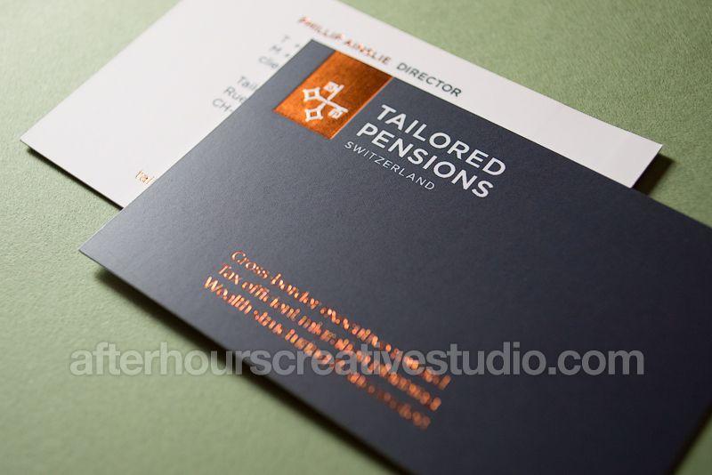 Copper Foil Business Card Jpg 800 534 Laminated Business Cards Printing Business Cards Custom Business Cards
