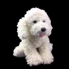 Stuffable Scruffy White Puppy Animal Plush Toys Plush Animals White Puppies