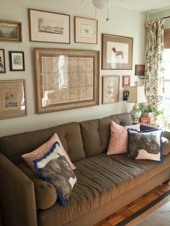 Brown Couch Design Pictures Remodel Decor And Ideas Page 6 Wall Behind