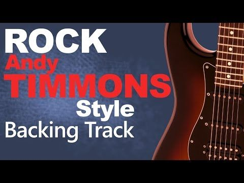 Andy Timmons Style Backing Track Jam in E - YouTube