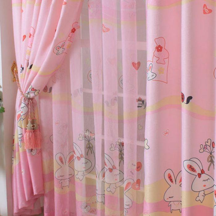 Kinderzimmer Ideen mit Kindergardinen - schlafzimmer einrichten rosa