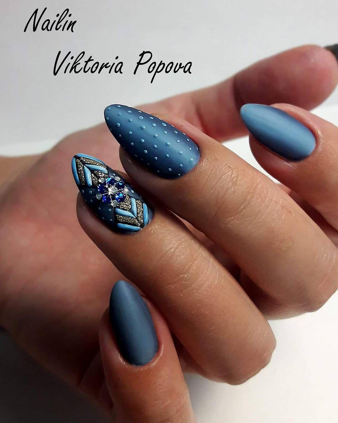Pin van mirka gaal op nails :) | Pinterest - Nagel, Blauwe nagels en ...