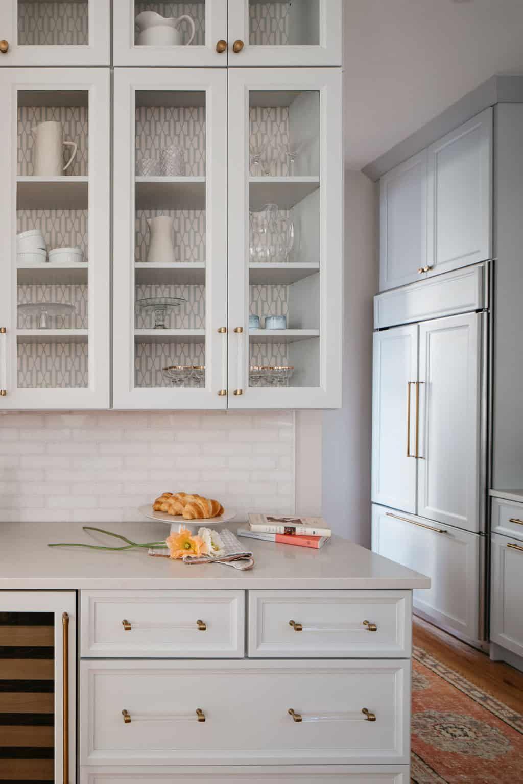 Above Kitchen Cabinet Wallpaper - Kitchen Ideas