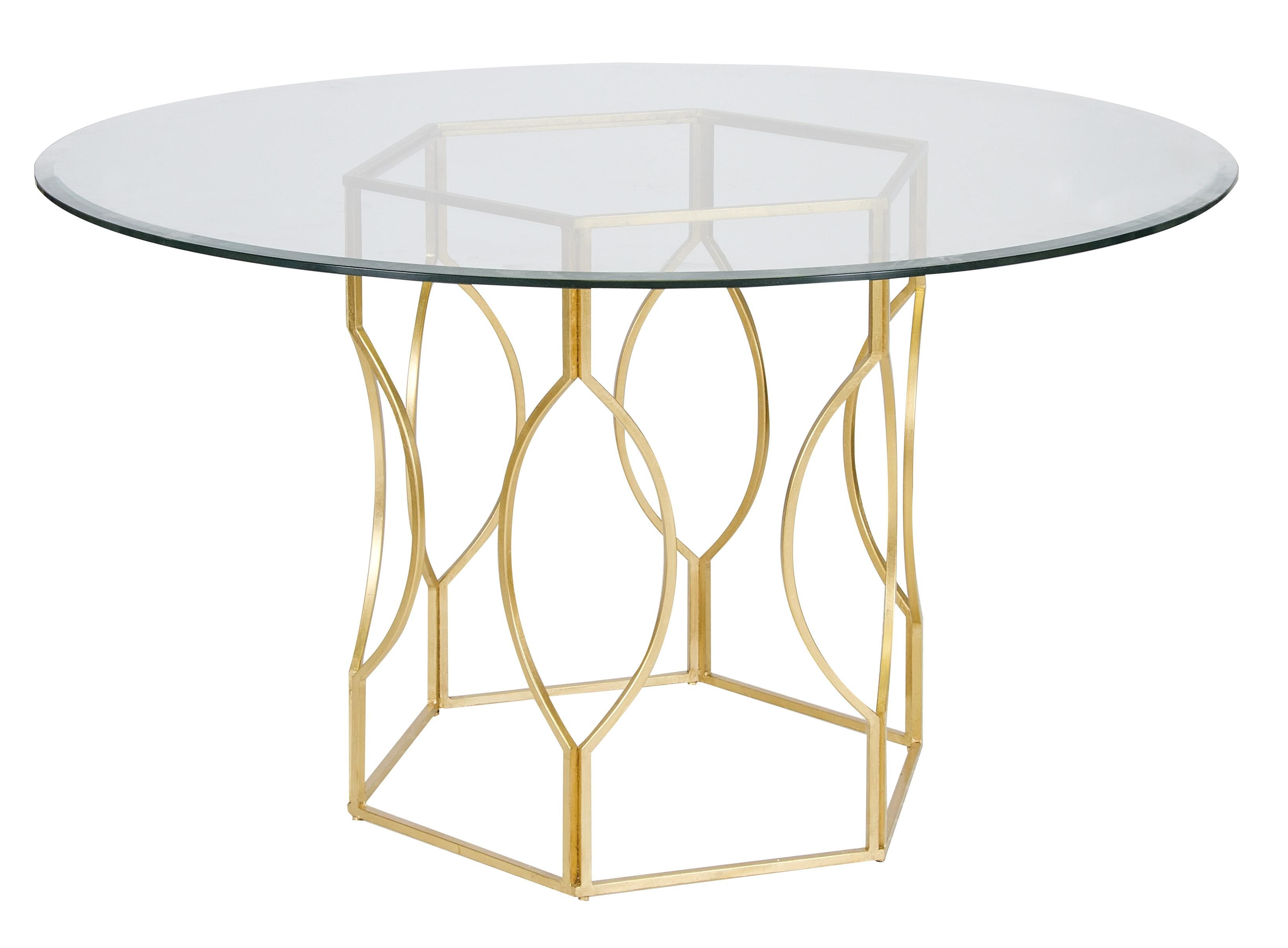 Worlds Away Abigail Gold Leaf Dining Table With Images Dining