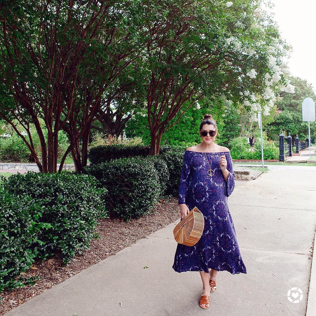 Excuse my while I wear this dress only for the next few weeks  maxi dresses are a pregnant lady's lifesaver. (This one is non maternity so I can easily wear it after the bebe!) more details on the blog or here! http://liketk.it/2rQHz #liketkit @liketoknow.it #LTKunder100 #LTKbump #dressingthebump #34weeks