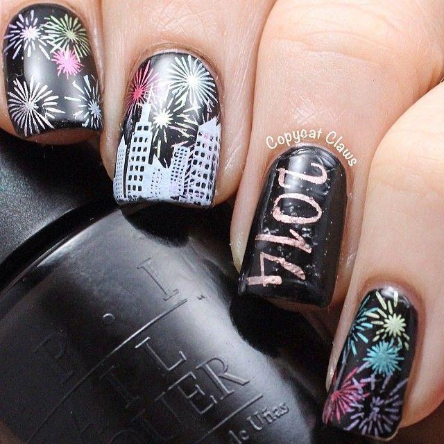New Year S Nails By Copycatclaws Nail Nails Nailart Nails