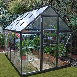 Serre De Jardin Polycarbonate Transparent 4 6m Anthracite Serre Jardin Serre De Jardin Polycarbonate Plans De Serre