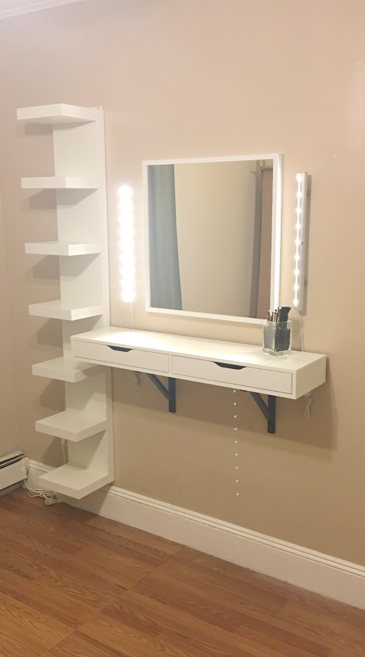 Makeup Vanity Mirror Cheap Upon Makeup Vanity Set Home Depot Out Makeup Artist On Instagram The Floati Diy Vanity Table Easy Diy Room Decor Makeup Vanity Decor