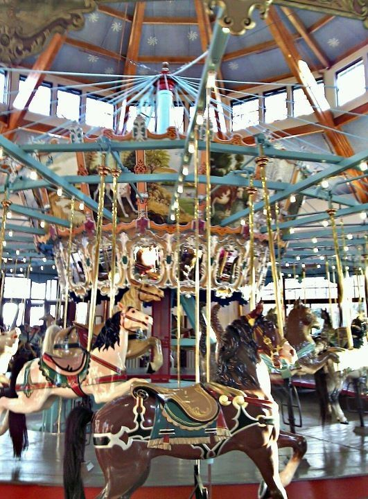 I have a real carousel horse :)
