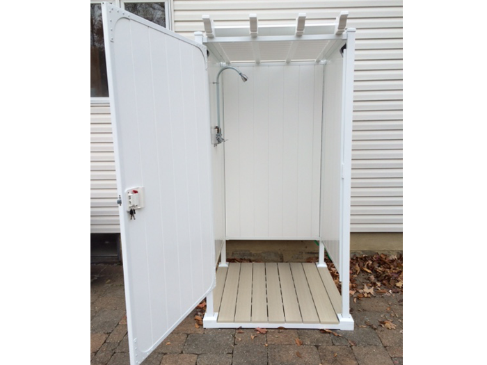 Superior Outdoor Shower Ideas: Single Shower Stall | OutdoorShowers.net