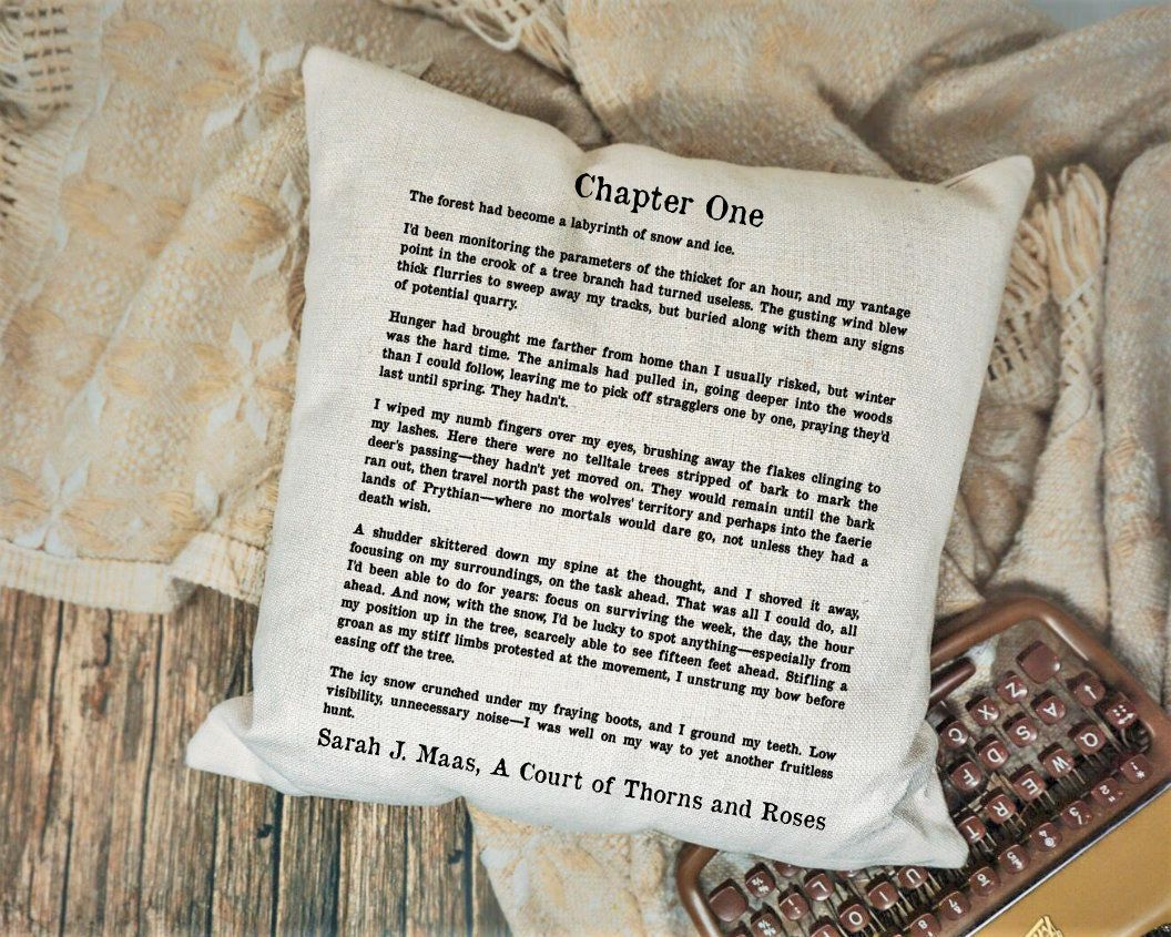 A Court Of Thorns And Roses Pillow Acotar Pillow Cover Mist And