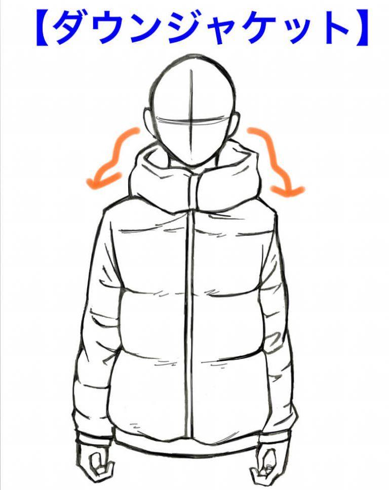 服の描き方3パーカーの基本的な描き方について紹介
