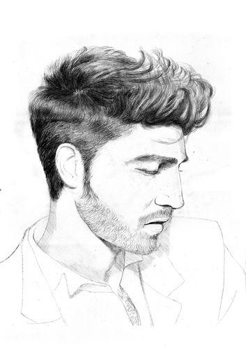 Cheveux court homme dessin