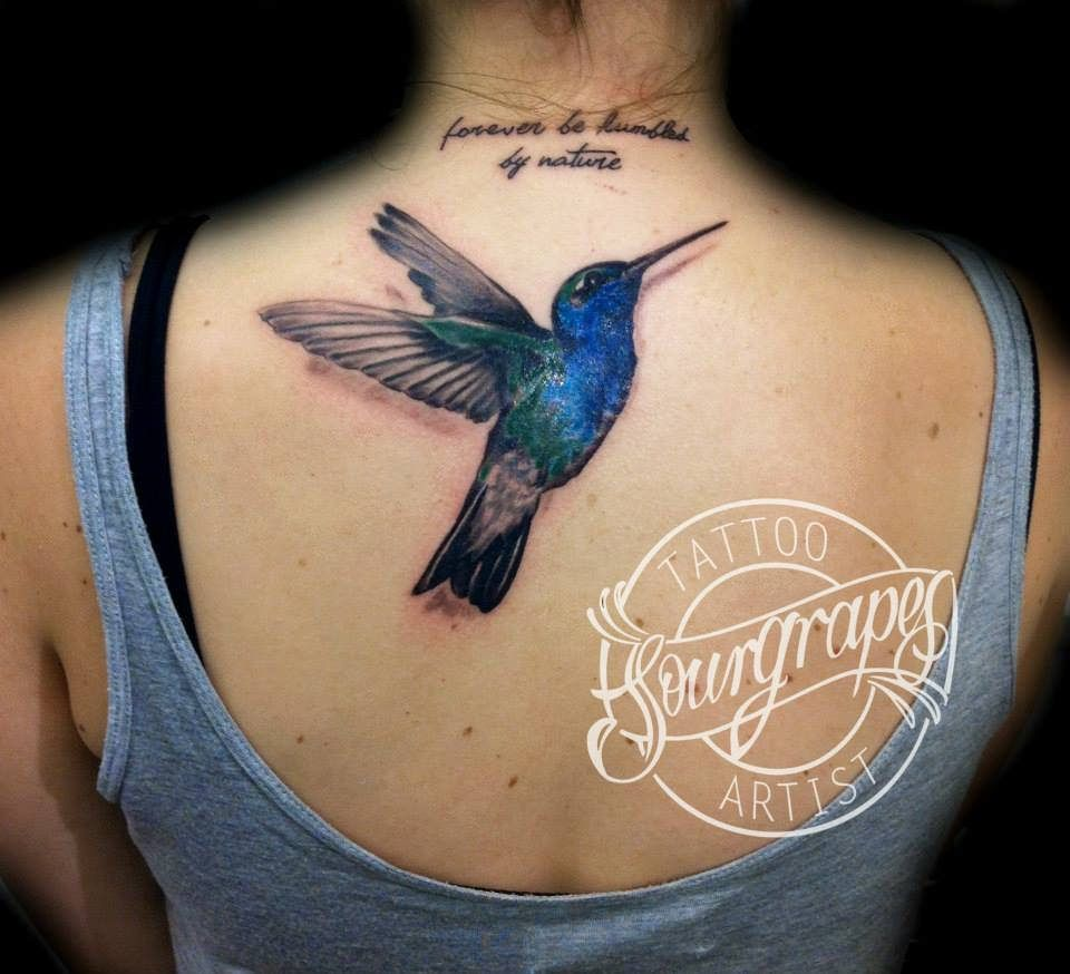 Realistic Hummingbird Tattoo | Tattoos | Hummingbird ...