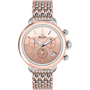 Rose Gold IP Stainless Steel Case Cover and 7 Link Rose Gold IP Two Tone Bracelet