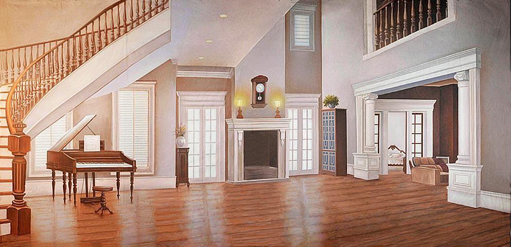 Elegant Living Room Interior Professional Scenic Backdrop