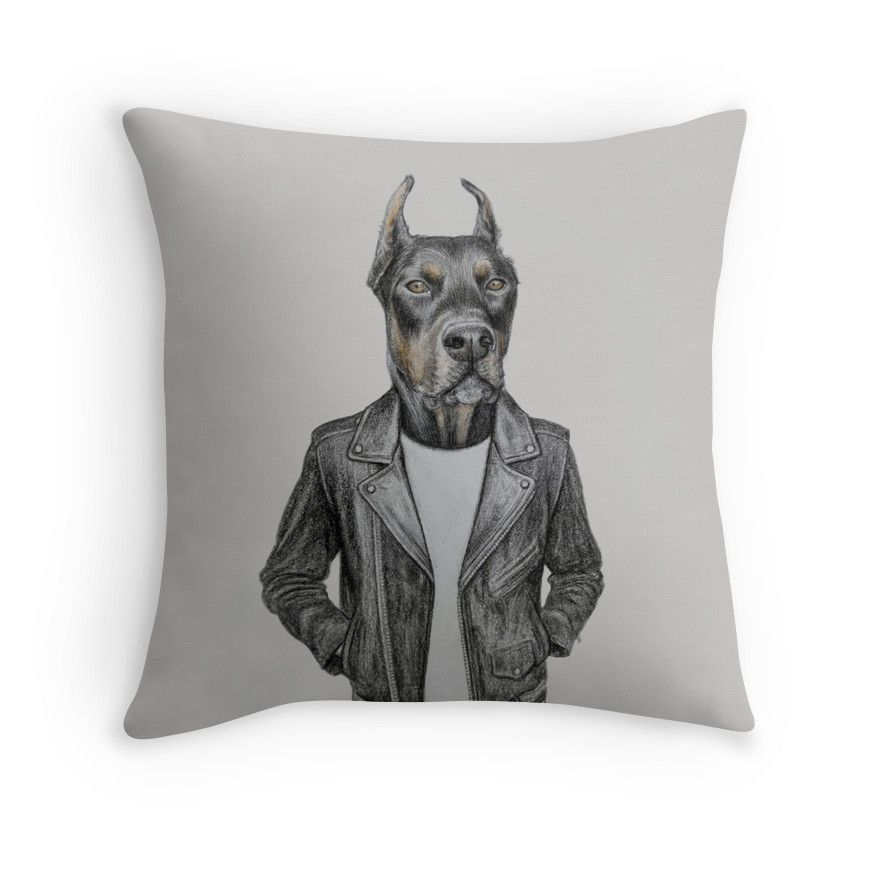 cool doberman pinscher in leather by windzao