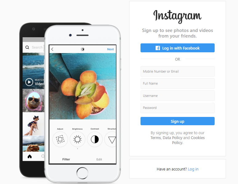 How to Sign up for Instagram without the App? Instagram
