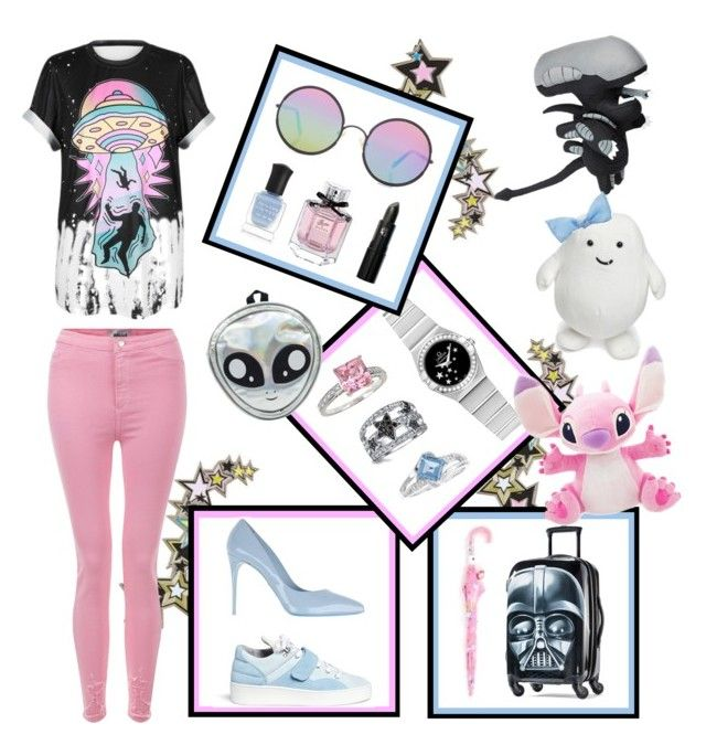 """""""Alienated"""" by rinnypooh2 ❤ liked on Polyvore featuring Topshop, Dolce&Gabbana, Filling Pieces, American Tourister, Hello Kitty, Bling Jewelry, OMEGA, H Star, Sterling Forever and Sunday Somewhere"""