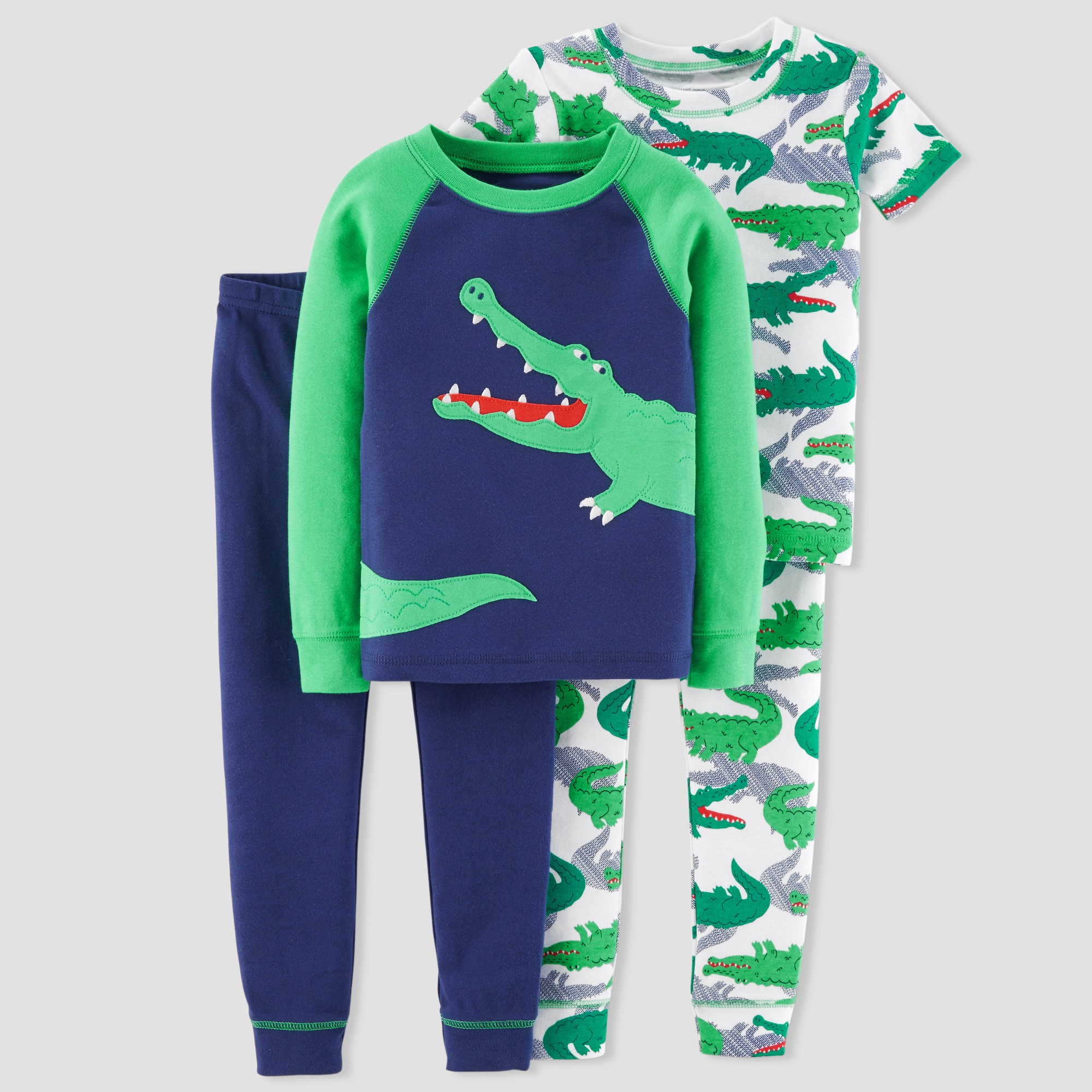 acd66d32f843 Just One You made by carter s Boys  4pc Gators Pajama Set - Blue 4 ...