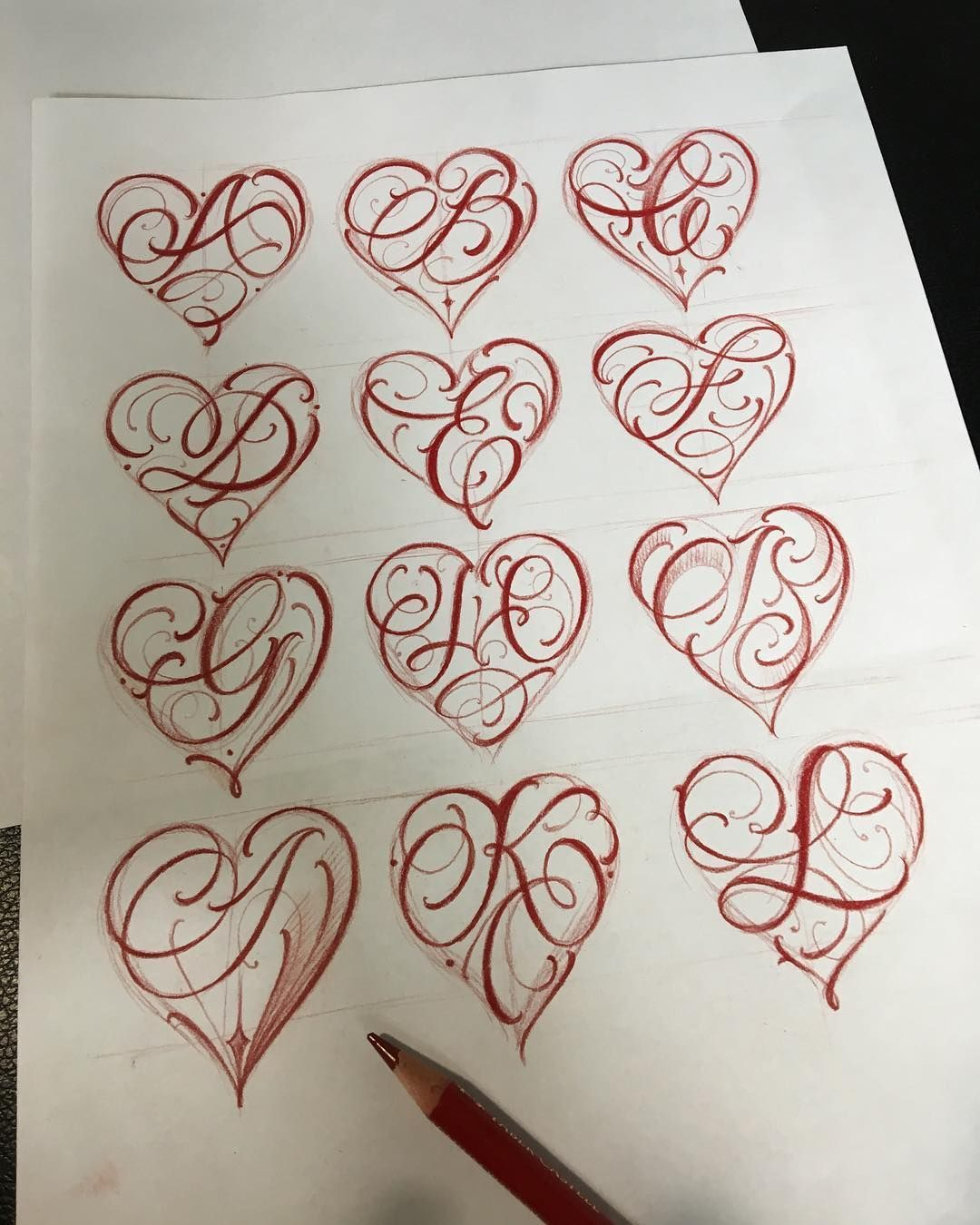 Image Result For Letter A With Heart Tattoo