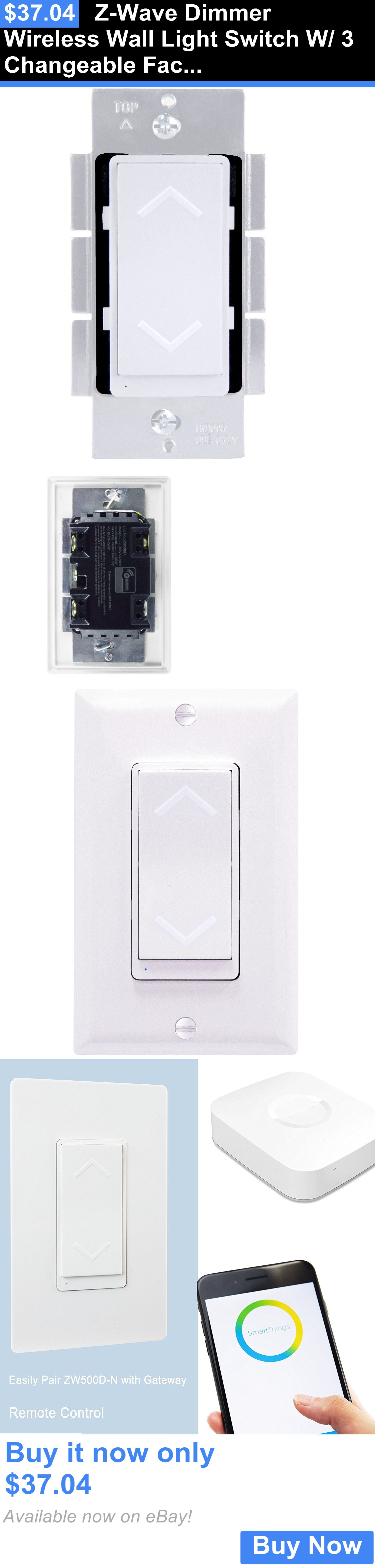 Home automation modules z wave dimmer wireless wall light switch home automation modules z wave dimmer wireless wall light switch w 3 changeable mozeypictures Choice Image