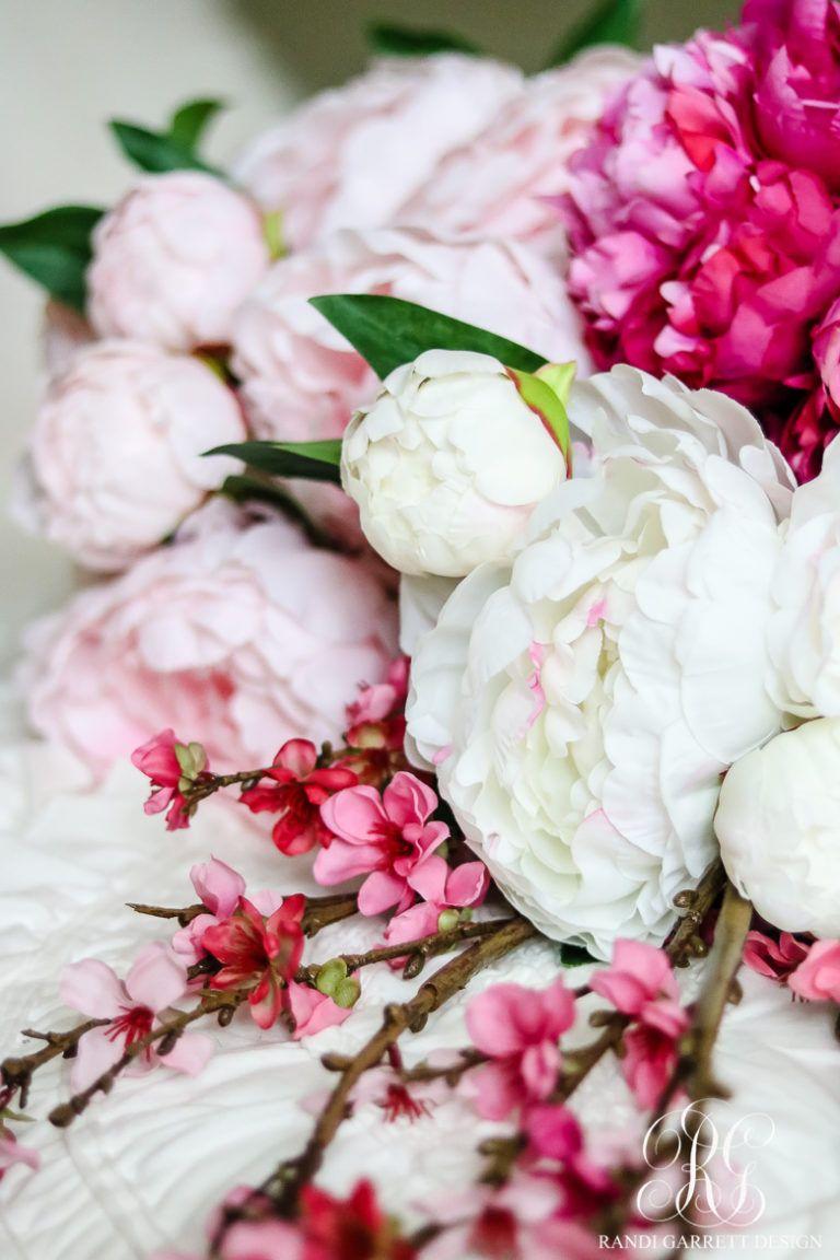 Photo of How to Make a Beautiful Peony and Cherry Blossom Spring Wreath – Randi Garrett Design