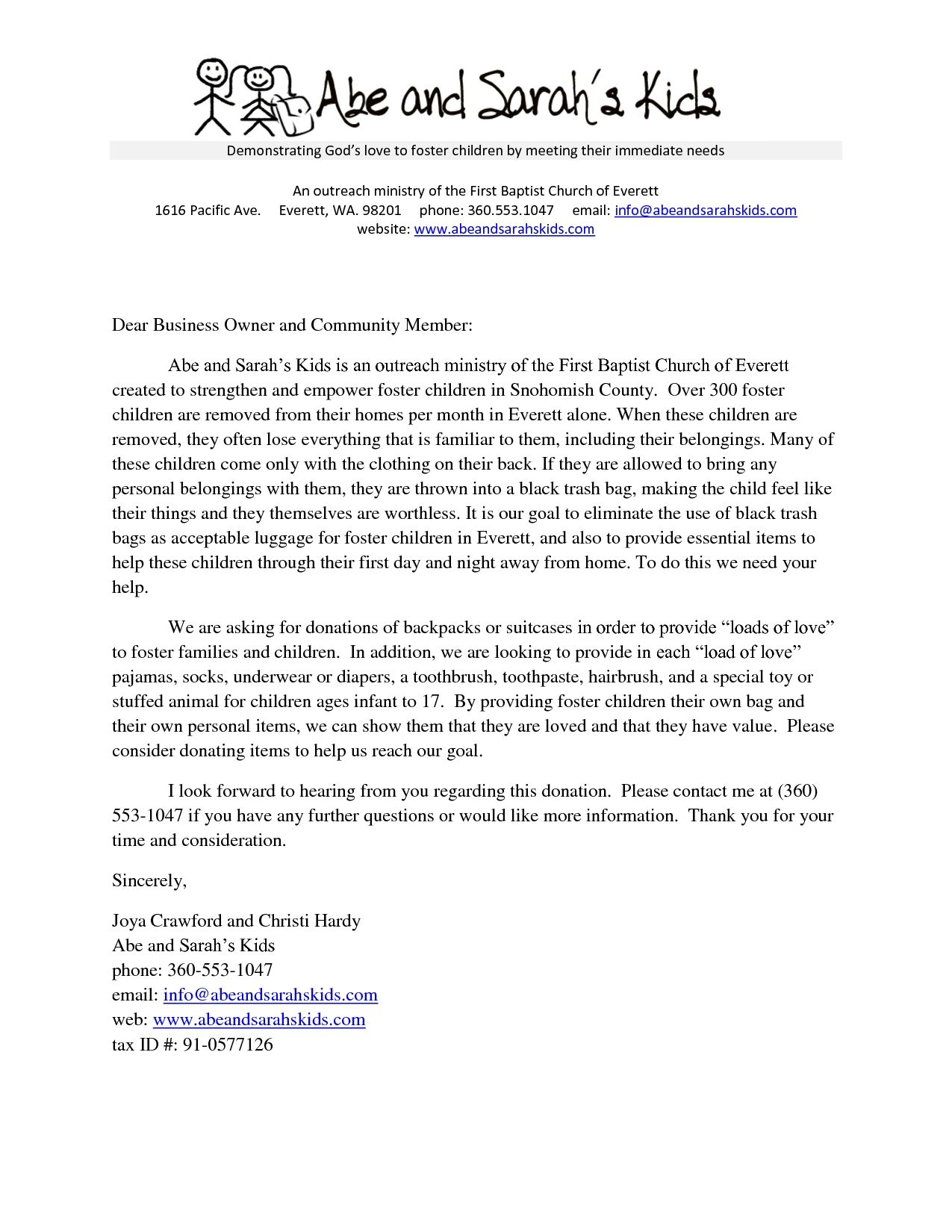 Sample Donation Request Letter For Church Building